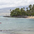View north of Kalama Park and the West Maui Mountains from Cove Beach Park.- Kalama Park + Cove Beach Park