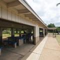 Picnic shelter at Kalama Park.- Kalama Park + Cove Beach Park