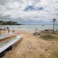 The small beach at Kalama Park.- Kalama Park + Cove Beach Park