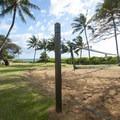 Volleyball court at Kama'ole Beach Park 1.- Kama'ole Beach Park 1 / Charley Young Beach