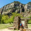 The start of the West Fork Trail.- West Fork Trail Hike