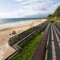 Accessible ramp down to Kama'ole Beach Park 3.- Kama'ole Beach Park 3