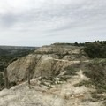 View of Devils Pass.- Devils Pass via the Maah Daah Hey Trail