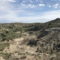 A view of the Theodore Roosevelt National Park badlands from the South Petrified Forest.- Petrified Forest Loop Trail
