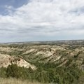 Views of the badlands in Theodore Roosevelt National Park.- Petrified Forest Loop Trail