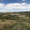 Views of Theodore Roosevelt National Park badlands.- Petrified Forest Loop Trail