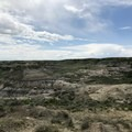 Looking over the North Petrified Forest from the trail.- Petrified Forest Loop Trail