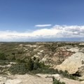 Views heading back to the parking lot.- Petrified Forest Loop Trail