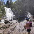 You can climb down to the base of the falls, but it is slippery from the mist.- Bells Canyon Lower Falls
