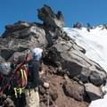 Ascending to the summit of Diamond Peak.- Diamond Peak: Pioneer Gulch/Southwest Ridge