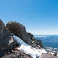 Views from the ascent to the summit of Diamond Peak.- Diamond Peak: Pioneer Gulch/Southwest Ridge