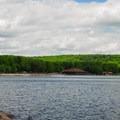 A north shore beach and picnic area.- Devil's Lake State Park