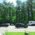 The Civilian Conservation Corps (CCC) Trail parking lot.- Devil's Lake State Park