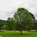 Sand volleyball at the south shore beach and picnic area.- Devil's Lake State Park
