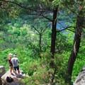 A hiker's overlook of Devil's Lake.- Devil's Lake State Park