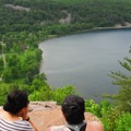 A hiker's overlook Devil's Lake.- Devil's Lake State Park