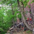 Rock climbing is very popular in Devil's Lake.- Devil's Lake State Park