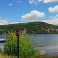 A pet swim area.- Devil's Lake State Park
