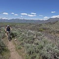 Riding the Upper Riverview Trail.- Coyote Canyon Trails: Coyote Trailhead