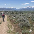Riding the Free Fall Trail.- Coyote Canyon Trails: Coyote Trailhead