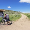 Starting off a ride in one of the great outdoor cities in the U.S.- Round Valley Trails: Quinn's Trailhead