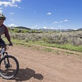 The widest tracks are near the beginning of the trail to handle higher crowds.- Round Valley Trails: Quinn's Trailhead