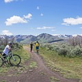 Keep an eye out for traffic. There are a lot of intersections here.- Round Valley Trails: Quinn's Trailhead