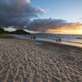 View south from Maluaka Beach of Pu'u Ola'i (Red Hill).- Maluaka Beach
