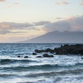 View northwest from Maluaka Beach with the West Maui Mountains in the distance.- Maluaka Beach