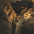 Stalactites in Mammoth Cave.- Mammoth Cave National Park