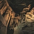 Mammoth Cave is filled with beautiful limestone formations.- Mammoth Cave National Park
