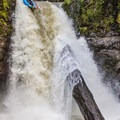 Thomas Creek Falls are even fun for an inflatable kayak.- Upper Thomas Creek: Pumpkin Patch to Thomas Creek Falls