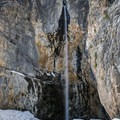 Big Falls waterfall, possibly the most spectacular in the Spring Mountains.- Big Falls in the Spring Mountains