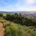 As the trail climbs, it opens up to views over downtown and Cal Poly San Luis Obispo.- Bishop Peak via Highland Drive