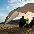 Enjoying late afternoon sunlight at Sand Beach.- Sand Beach