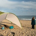 The beach is very exposed with little shade, and it's recommended that visitors bring their own.- Sand Beach