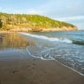 Gently crashing waves at Sand Beach.- Sand Beach