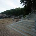 The stairs accessing the beach.- Sand Beach