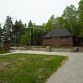 Bathrooms and freshwater rinse faucets are available near the parking lot.- Sand Beach