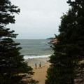 Sand Beach is great for a short stroll.- Sand Beach