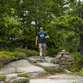 Bates Cairns mark the trail.- Gorham Mountain Trail