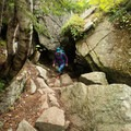 A tunnel on the Cadillac Cliffs Trail.- Gorham Mountain Trail