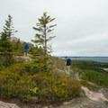 Approaching the summit.- Gorham Mountain Trail