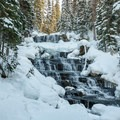 Falls between second and third lake.- Joffre Lakes Provincial Park