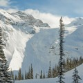 Looking back at Joffre Peak from above the lake.- Joffre Lakes Provincial Park