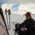 A summit snack before a final descent.- Joffre Lakes Provincial Park