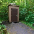 The single source of potable water and pump house.- Alder Glen Recreation Site