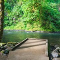 The fishing dock. Primarily for persons with disabilities.- Alder Glen Recreation Site