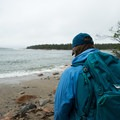 Looking out over the beach on a rainy day.- Wonderland Trail