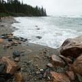 The beach has many rocks.- Wonderland Trail